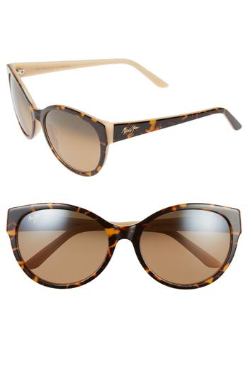 Maui Jim 5m Polarizedplus Sunglasses - Dark Tortoise/ Bone/ Bronze