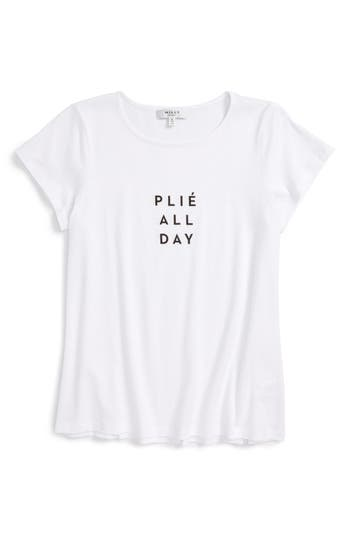 Girl's Milly Minis Plié All Day Graphic Tee