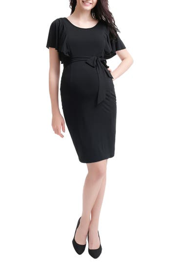 Kimi And Kai Makayla Maternity/nursing Dress, Black