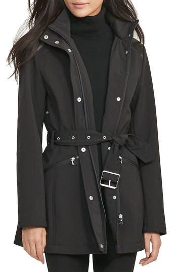 Women's Lauren Ralph Lauren Belted Hooded Soft Shell Jacket