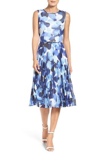 Maggy London Watercolor Chiffon Dress