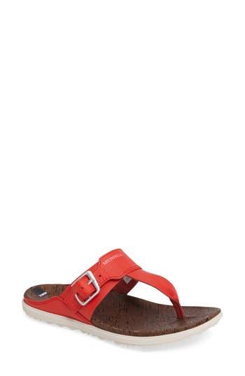 Merrell Around Town Flip Flop, Red