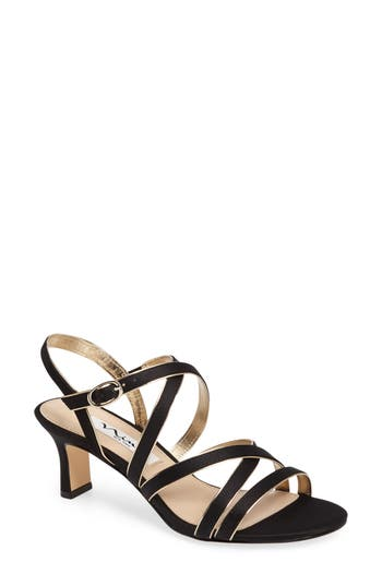 Nina Genaya Strappy Evening Sandal, Black