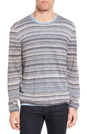 Men's John Varvatos Star Usa Multi Stripe Cotton Sweater