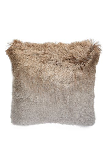 Mina Victory Shag Ombre Pillow, Size One Size - Beige