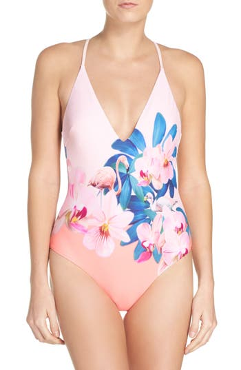 Ted Baker London Orchid Wonderland One-Piece Swimsuit