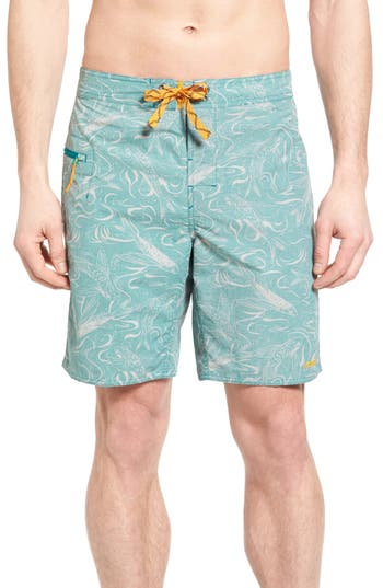 Patagonia Wavefarer Board Shorts, Blue/green