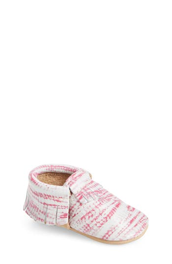 Infant Girls Freshly Picked Tie Dye Moccasin Size 4 M  Pink