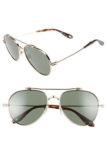 Men's Givenchy 58Mm Polarized Aviator Sunglasses -