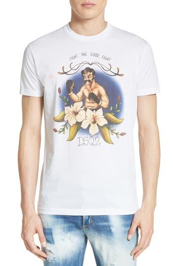 Dsquared2 Sketch Screenprint T-Shirt, White