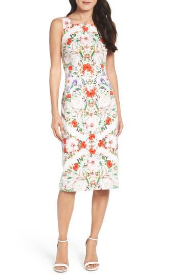 Maggy London Print Sheath Dress