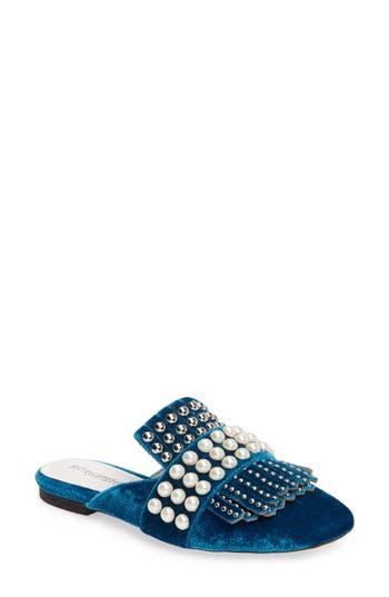 Women's Jeffrey Campbell Ravis Embellished Loafer Mule, Size 6 M - Blue