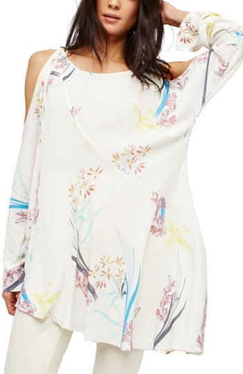 Free People Clear Skies Cold Shoulder Tunic, Ivory