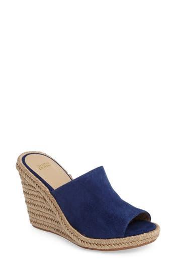 Johnston & Murphy Myrah Wedge Slide Sandal, Blue