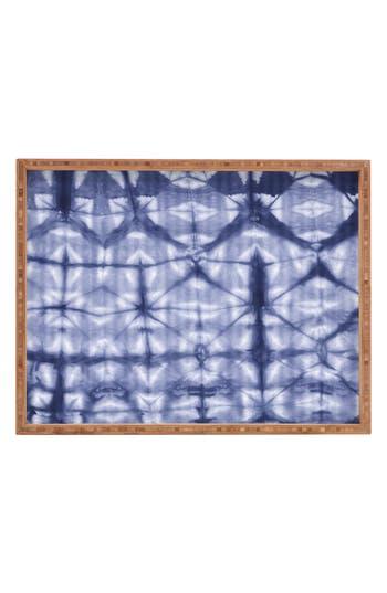 Deny Designs Tie Dye Rectangular Tray, x18 - Blue