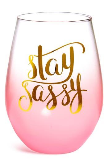 Stay Sassy Stemless Wine Glass