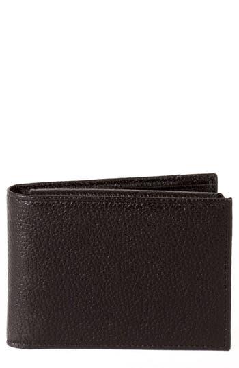 Men's Boconi Garth Leather Wallet - Black