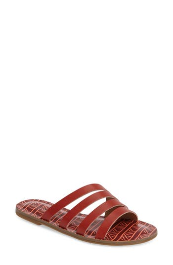 Lucky Brand Anika Slide Sandal- Red