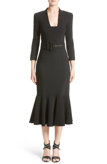 Michael Kors Stretch Pebble Crepe Bolero Sheath Dress