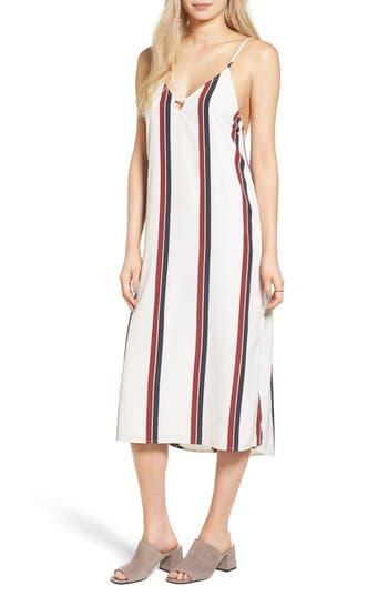 Amuse Society Stripe Midi Dress, White