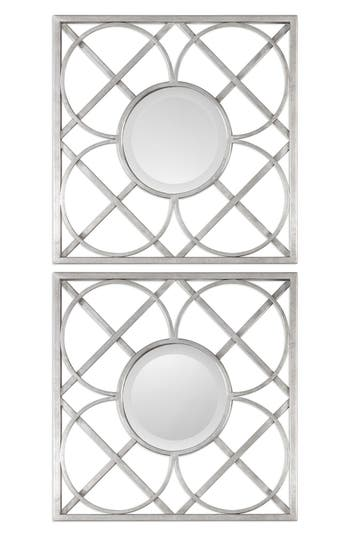 Uttermost Yasmina Set Of 2 Square Frame Wall Mirrors, Size One Size - Metallic