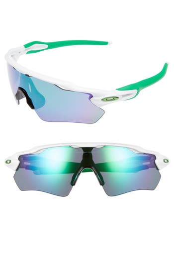 Oakley Radar Ev Path 50Mm Sunglasses - White/ Jade Iridium