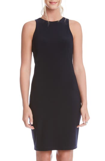 Karen Kane Sleeveless Sheath Dress, Blue