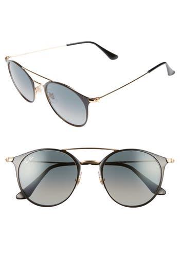 Ray-Ban 4m Gradient Round Sunglasses - Black