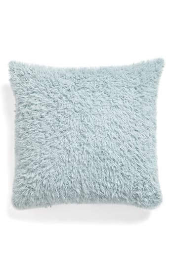 Nordstrom At Home Shaggy Plush Pillow, Size One Size - Green