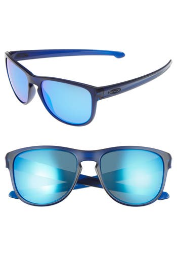 Oakley Sliver(TM) 57Mm Round Sunglasses - Clear Blue/ Sapphire Iridium