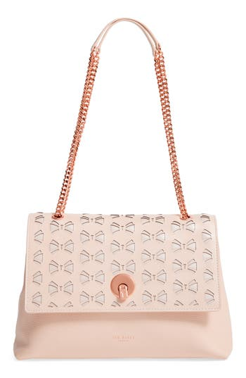 Ted Baker London Leather Shoulder Bag - Beige