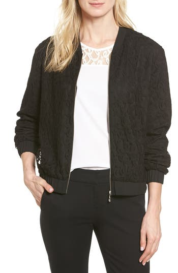 Women's Cece Lace Bomber Jacket