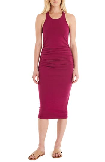 Michael Stars Racerback Midi Dress, Red