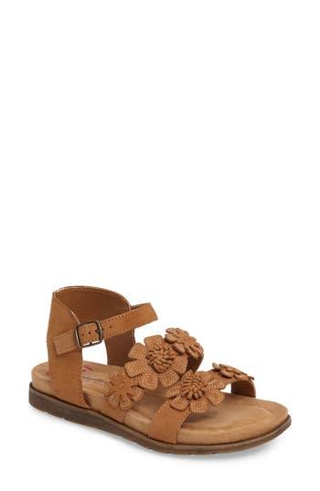 Comfortiva Alyssa Flower Applique Sandal, Beige