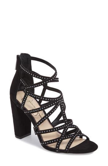 Jessica Simpson Emmi Block Heel Sandal- Black