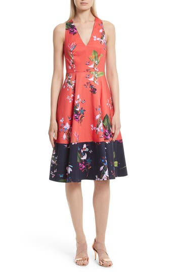 Women's Ted Baker London Esselle Stretch Cotton Midi Dress