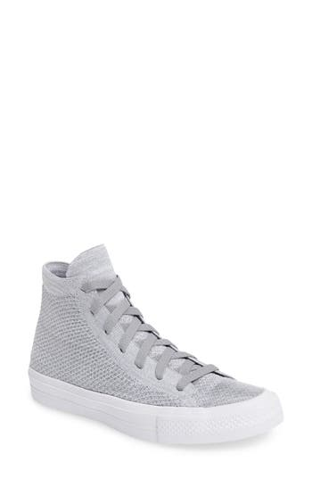 Converse Chuck Taylor All Star Fly Knit High Top Sneaker- Grey