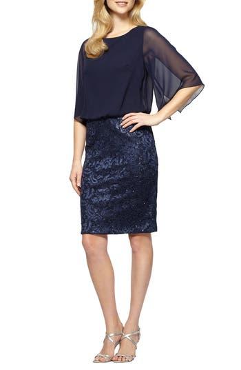 Women's Alex Evenings Sequin Blouson Dress