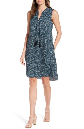 Nic+Zoe Seaglass Tassel Shift Dress