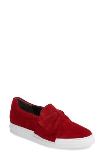 Paul Green Micky Bow Slip-On Sneaker, US / 7.5UK - Red
