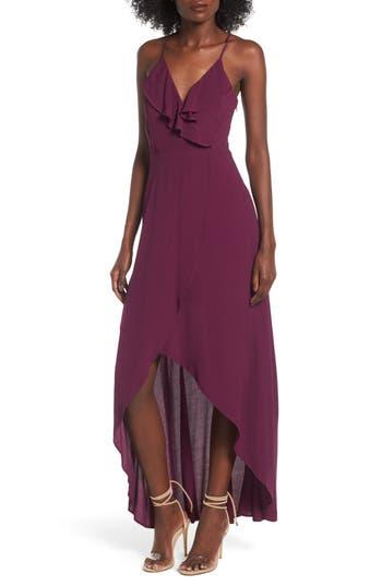 Dee Elly Ruffle Surplice Maxi Dress, Purple