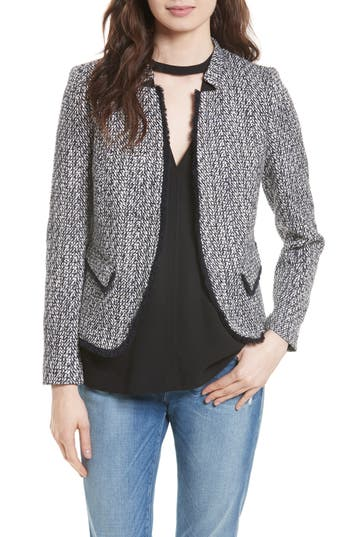 Women's Helene Berman Fringe Trim Tweed Jacket