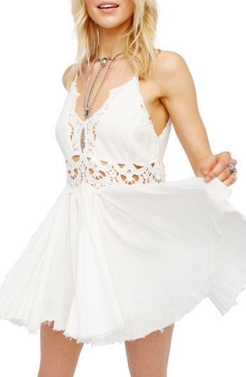 Free People Ilektra Lace Minidress, White
