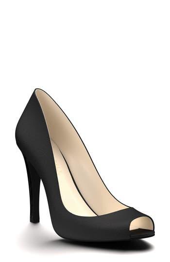 Shoes Of Prey Peep Toe Pump, Black