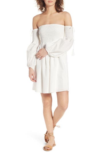 Lush Off The Shoulder Minidress, Ivory