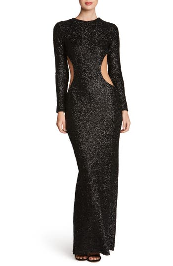 Dress The Population Lara Body-Con Gown, Black