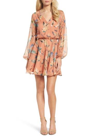 Greylin Silvia Fit & Flare Dress, Coral