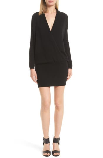Joie Syrin Wool & Cashmere Sweater Dress, Black
