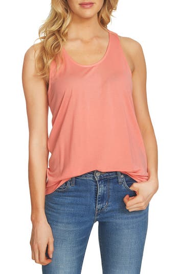 Women's 1.state Crochet Racerback Tank, Size Small - Coral