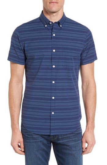 Men's Bonobos Slim Fit Short Sleeve Stripe Sport Shirt